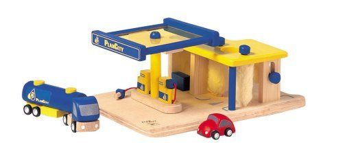 Plan City Gas Station by Plan Toysamazondp – Plan Toys Car Garage