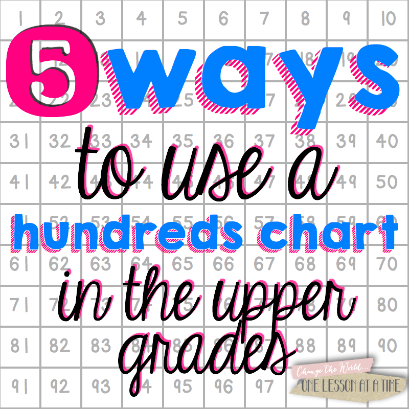 Ways To Use A Hundreds Chart In The Upper Grades All Things