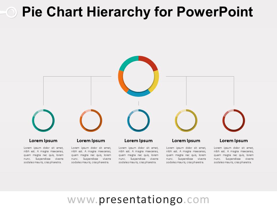 Pie Chart Hierarchy For Powerpoint Presentationgo Powerpoint