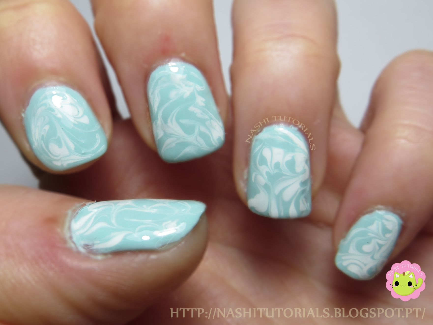 Easy Drag Marble Nail Art Tutorial: https://www.youtube.com/watch?v ...