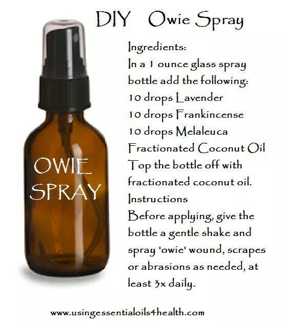 Owie Spray Essential Oil Spray Essential Oils For Kids