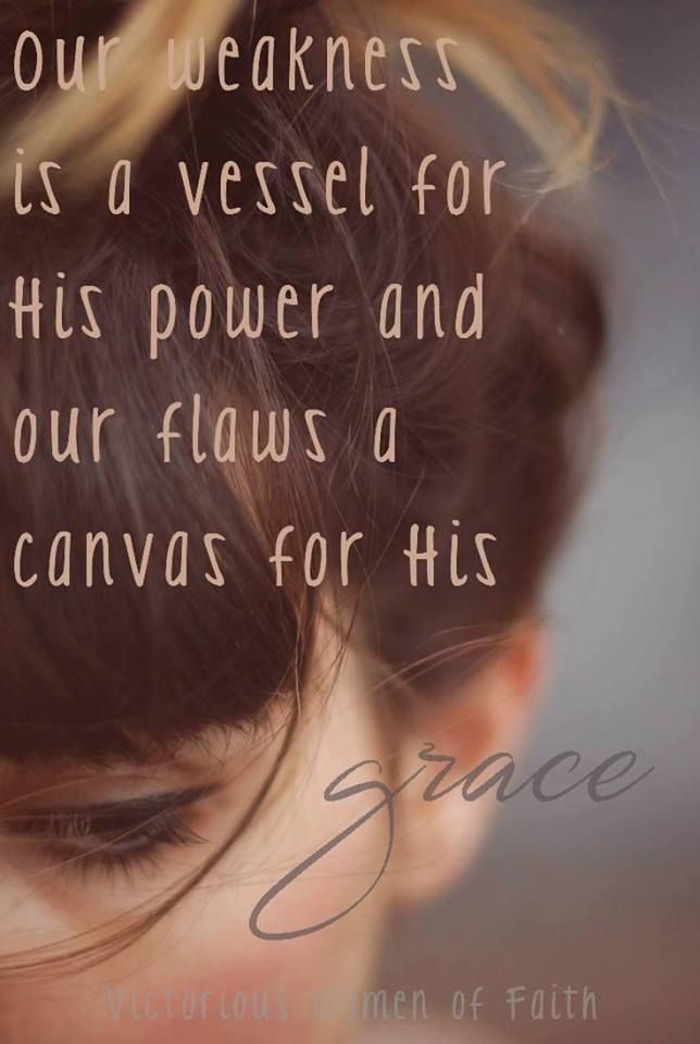 His power and grace...
