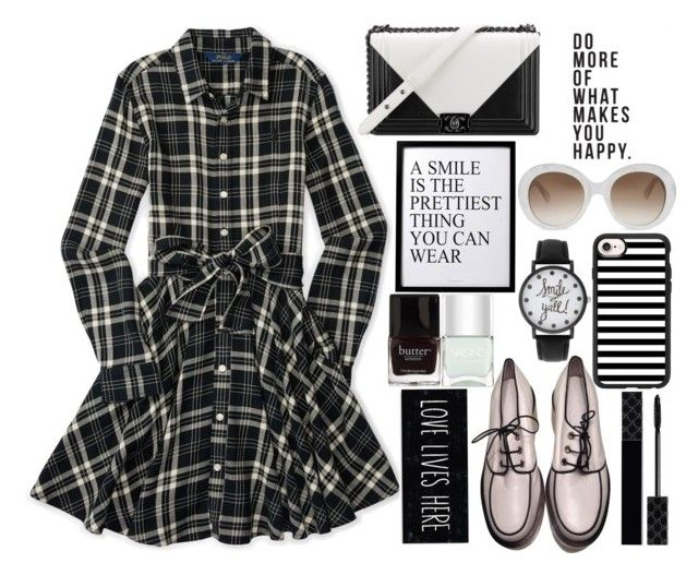 """""""Smile, You are Loved!"""" by juliehalloran ❤ liked on Polyvore featuring Ralph Lauren, Jil Sander, Chanel, Gucci, 3R Studios, A Classic Time Watch Co., Casetify, Nails Inc. and Butter London"""