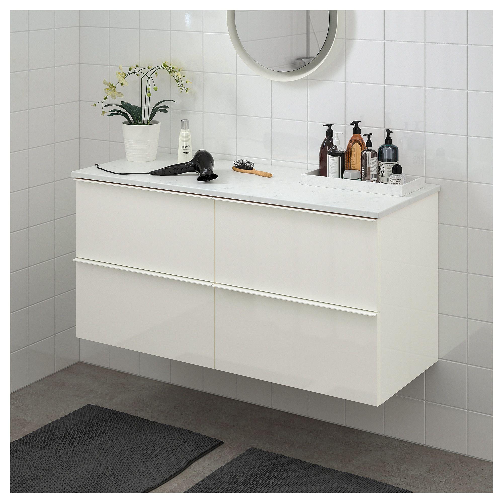 IKEA - GODMORGON / TOLKEN Bathroom vanity high gloss white