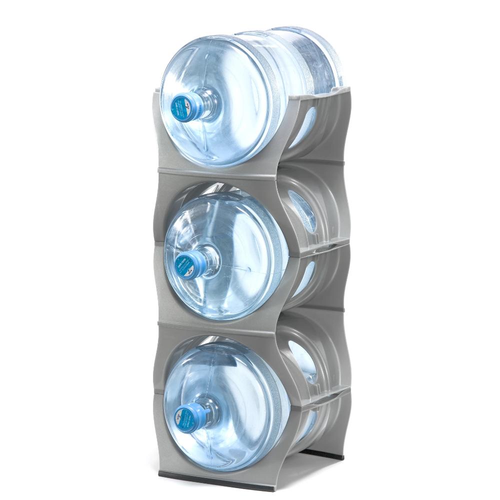 Silver Water Bottle Rack For 3 Bottles 3 5 Gallon Jugs Storage In 2020 Water Bottle Storage Bottle Storage Bottle Storage Rack