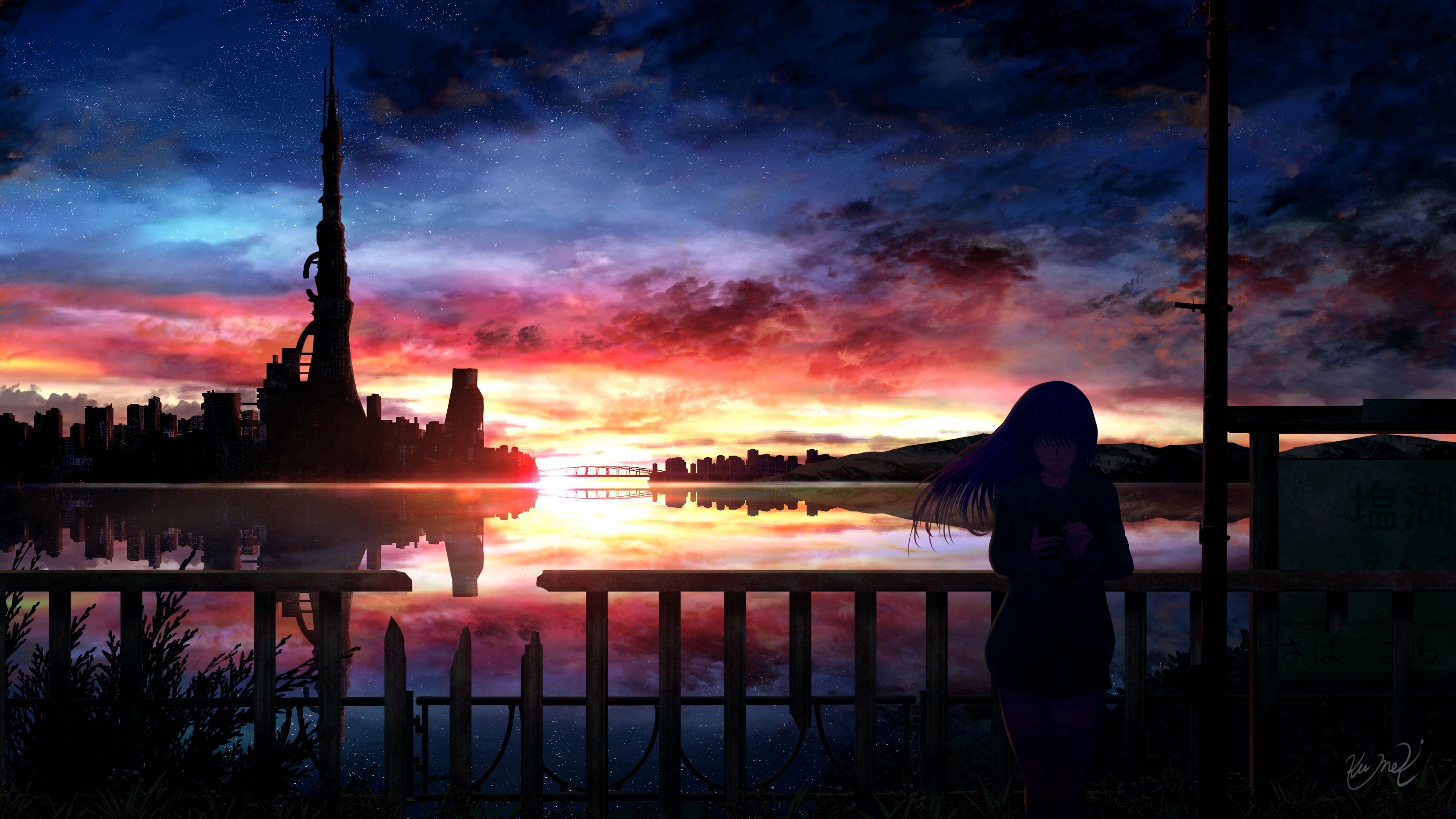 Silhouette Night 4k Wallpaper Night Sky Wallpaper Anime Backgrounds Wallpapers Hd Anime Wallpapers 27 anime wallpaper hd