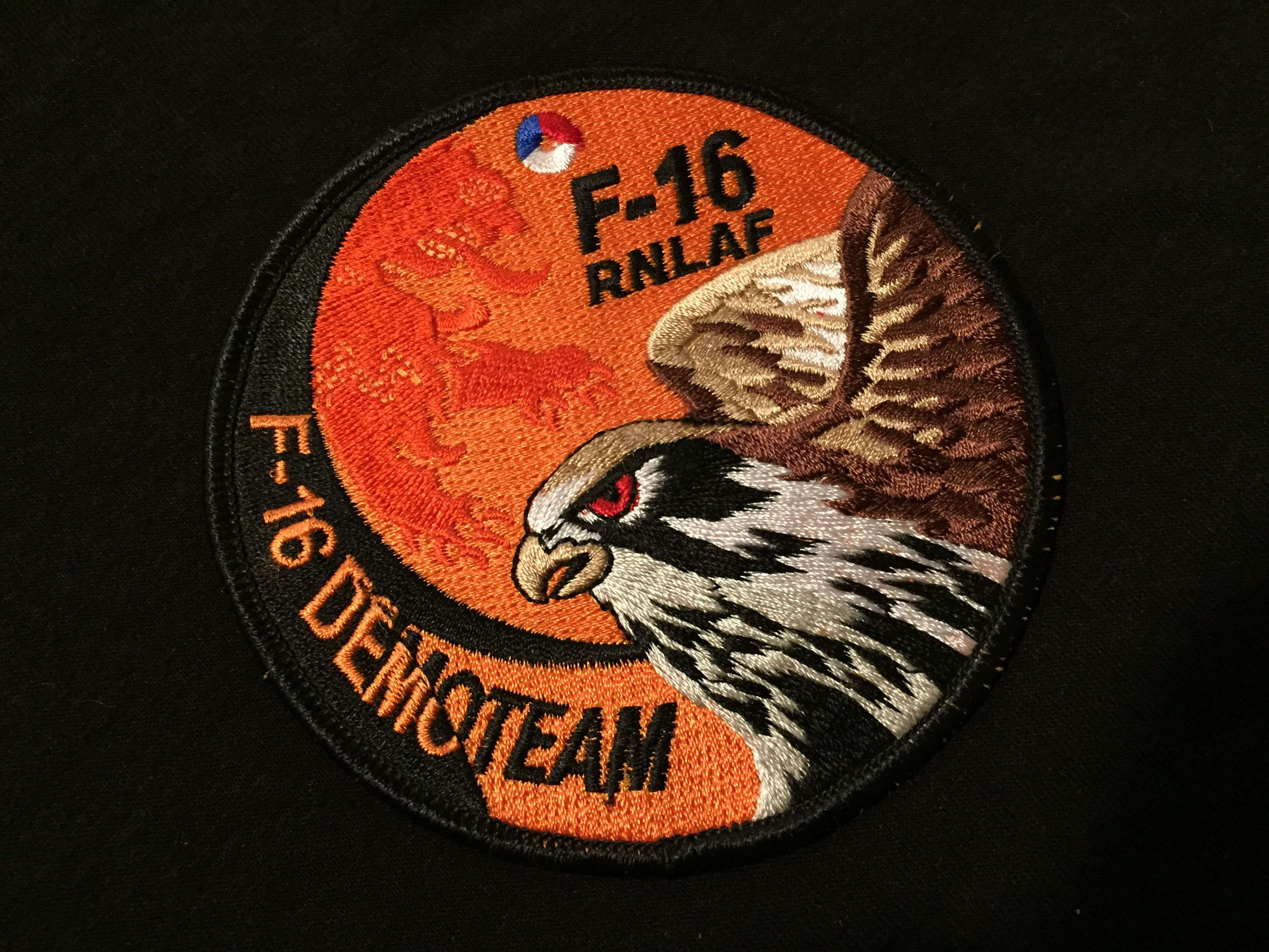 Royal Netherlands Air Force F16 Demo Team Vehicle logos