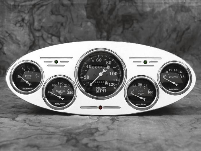 32 Ford Car Billet Aluminum Gauge Panel Dash Insert ...