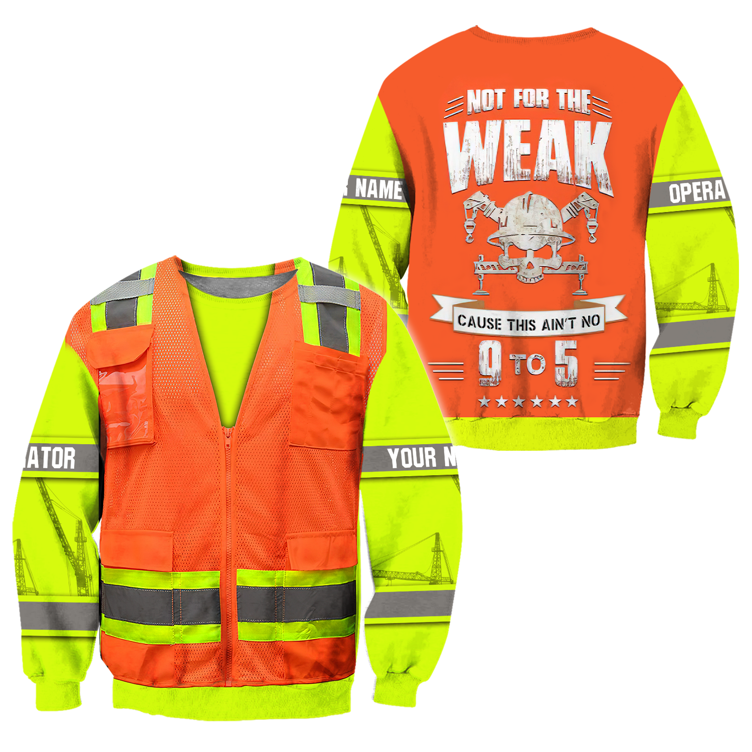 Customize Name Heavy Equipment Operator 3D All Over Printed Unisex Shirts - Sweater / M
