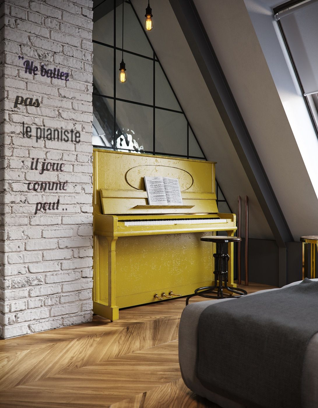Amazing Loft Wall Ideas Photo - The Wall Art Decorations ...