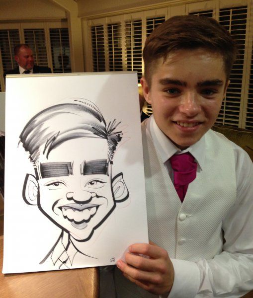 Wedding caricatures at The Arden