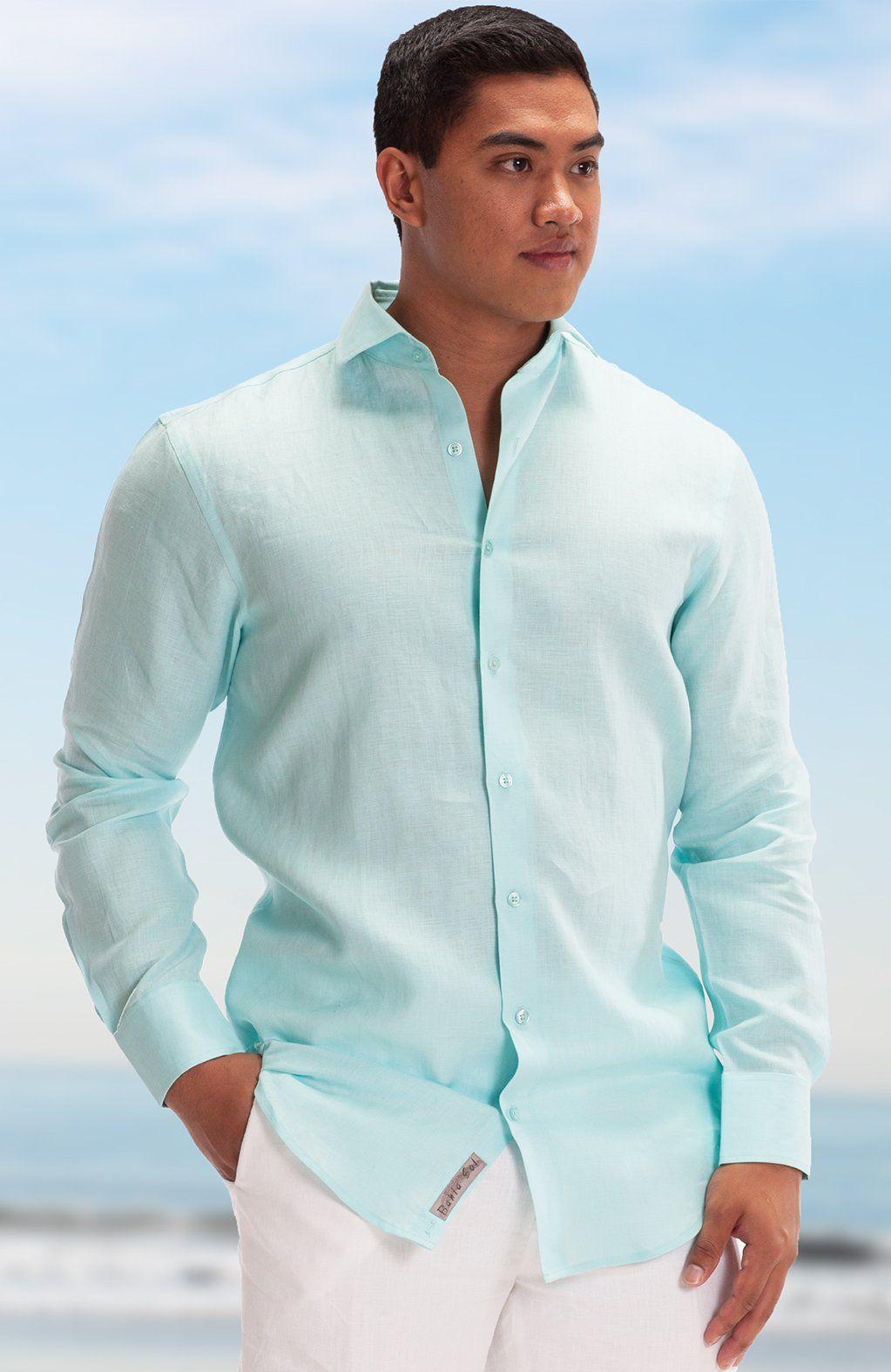 Linen Beach Shirt Mens Linen Shirts For Beach Wedding Long Or Short Sleeve All Colors Mens Beach Wedding Attire Mens Wedding Attire Beach Wedding Men [ 1575 x 1023 Pixel ]