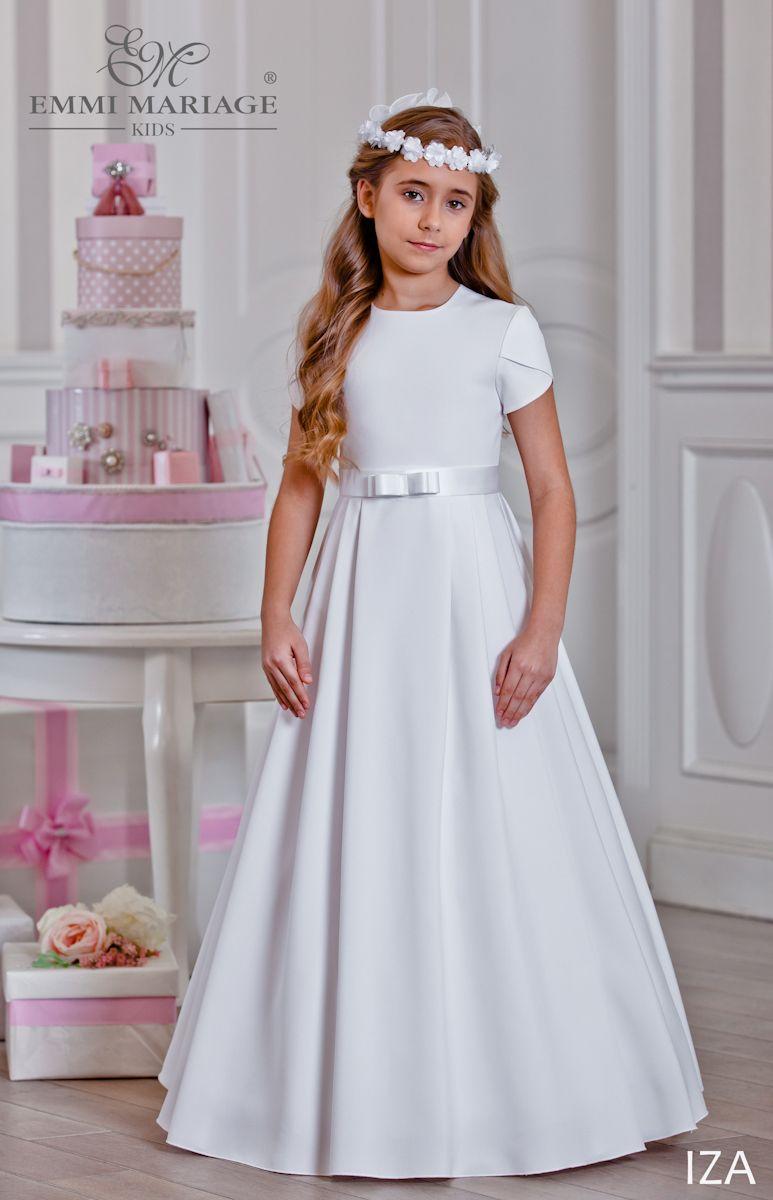 7ea42fa425 Prost i elegancka sukienka komunijna Iza  komunia  sukienkakomunijna   sukniekomunijne  emmimariage