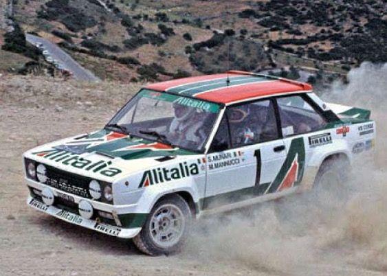 Rally Acropolis 1978 Munari Mannucci Fiat 131 Abarth Rally Fiat