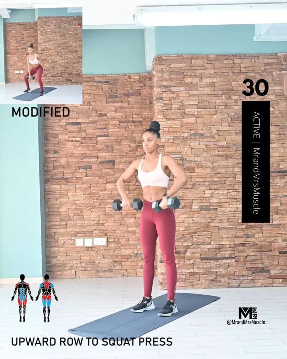Upper Body Dumbbell Workout - HIIT with Modificati
