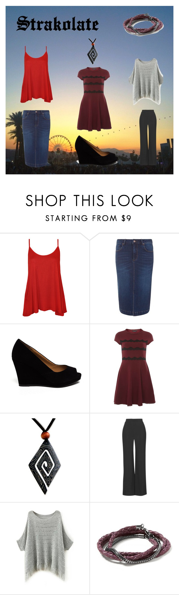 """Forty Four"" by pampire ❤ liked on Polyvore featuring WearAll, Anita & Green, Dorothy Perkins, NOVICA, Love and Banana Republic"