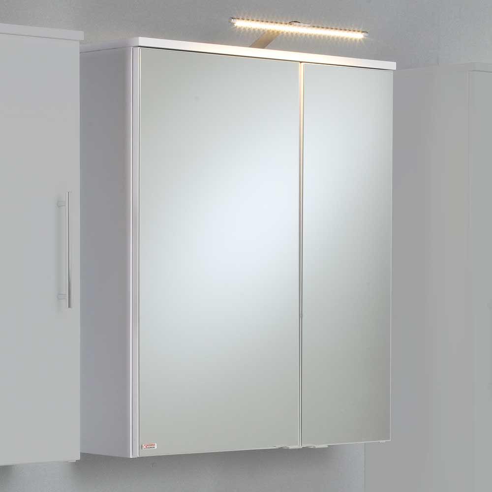 Badezimmer Spiegelschrank in Weiß matt LED Beleuchtung Jetzt ...