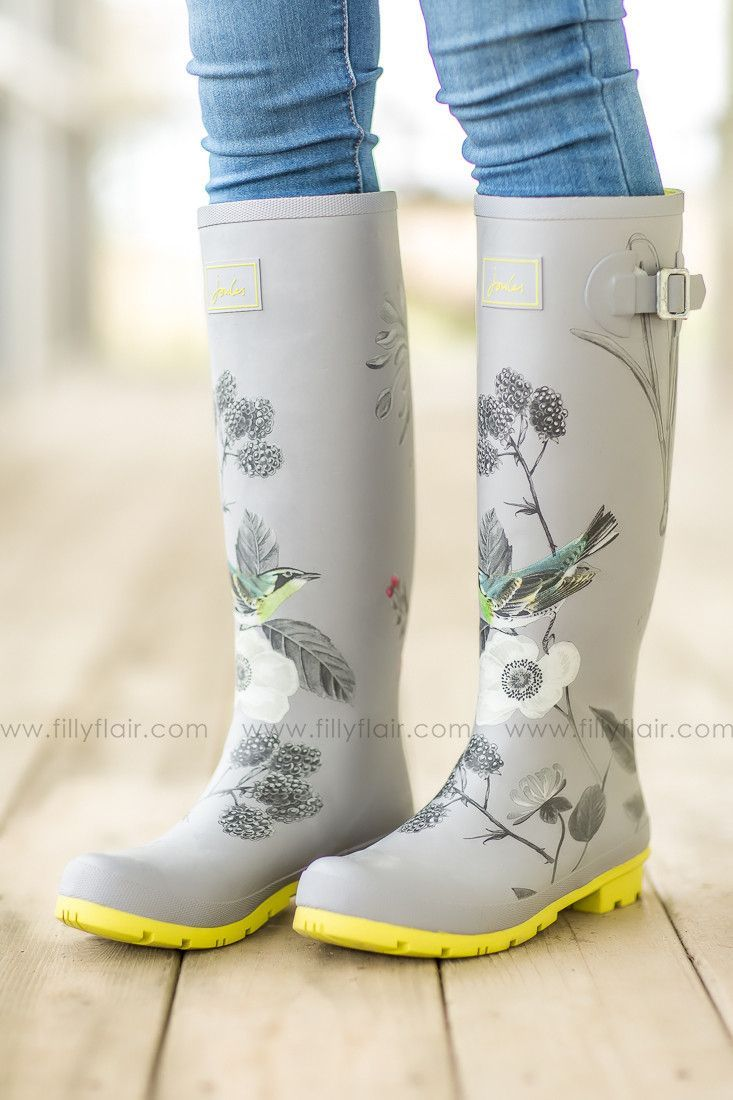 silver bird joules rain boots | Joules