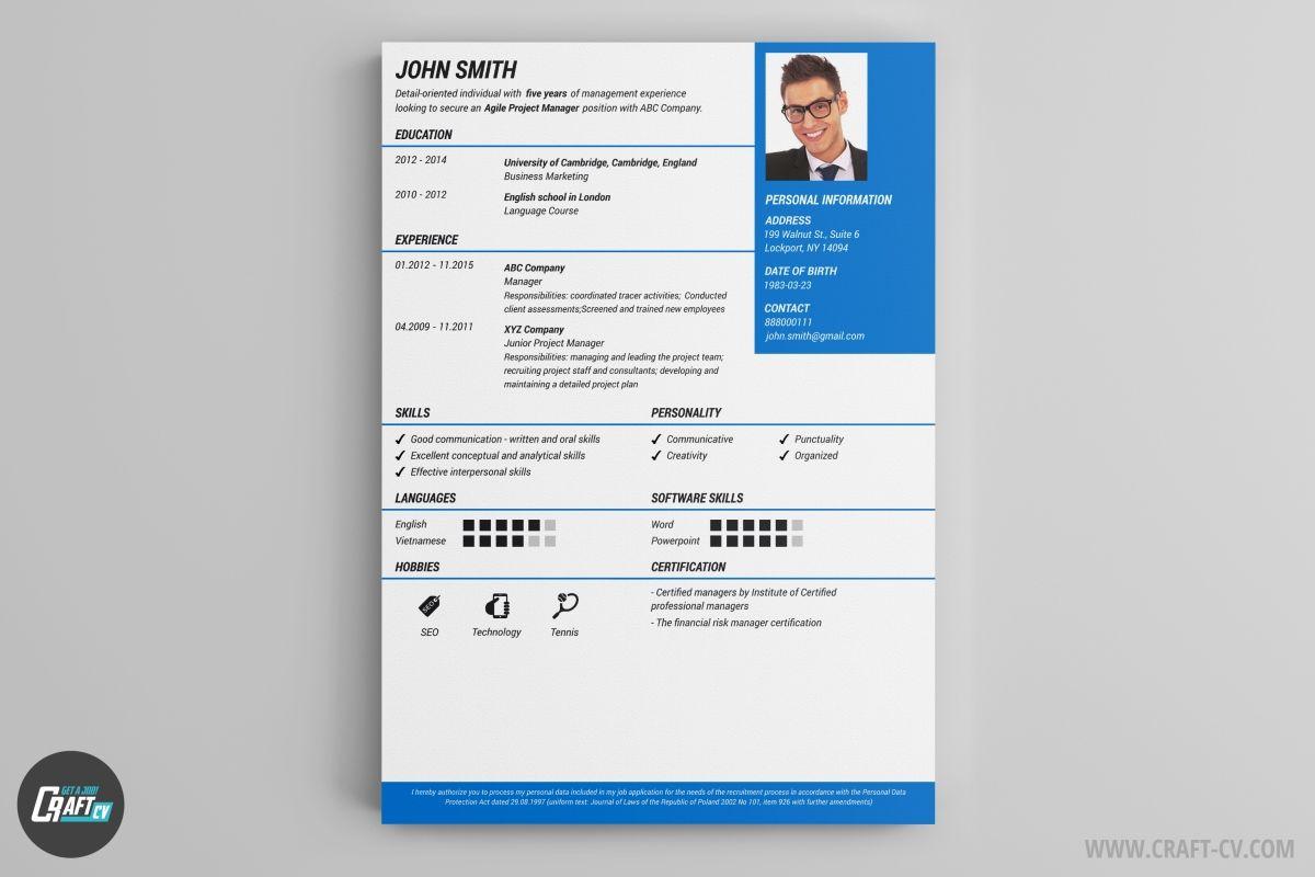 Cv Template Online Free Resume Format Free Resume Builder