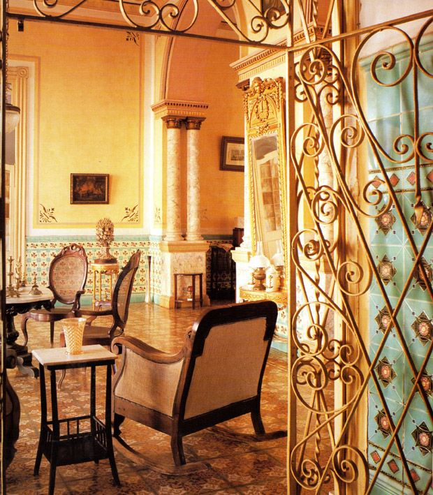 Cuban Home Decor: A Home In Trinidad With A Beautiful Mix Of Ironwork, Tiles