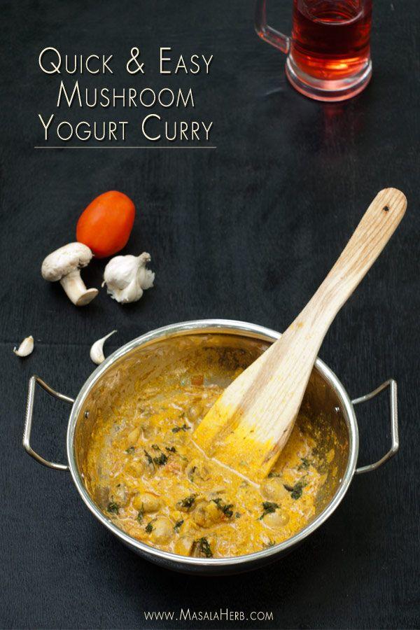 Mushroom Masala Recipe One Pot Mushroom Curry Nut