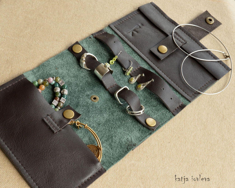 Jewelry Travel Organizer Jewelry Organizer Jewelry leather case