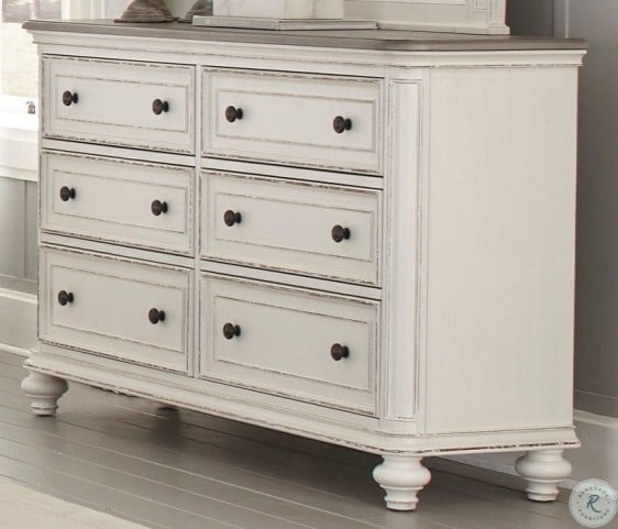 Baylesford Antique White And Brown Gray Dresser Grey Dresser Brown And Grey Antique White