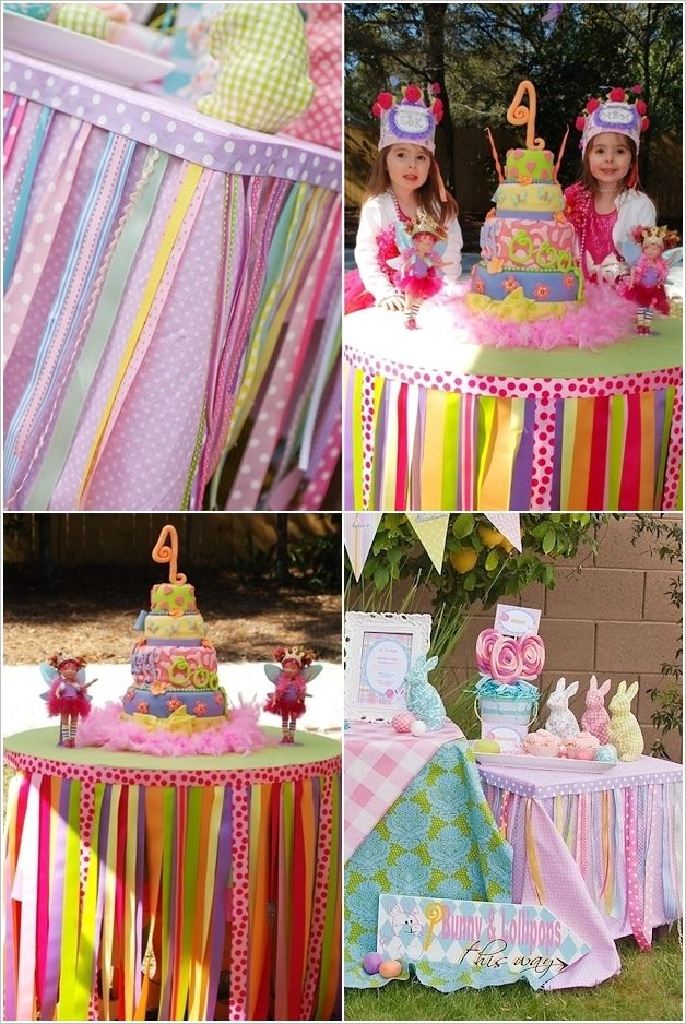 spring table skirt party decorations cupcakepedia