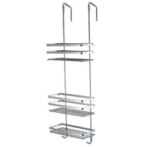 Shower Cubicle Hanging Tidy Shelf Basket Bathroom Storage Rack Chrome New