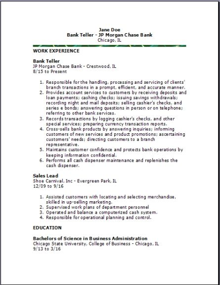 Pin By Mannan Nazeer On Thhhtgrg Bank Teller Resume Bank Teller Resume Examples