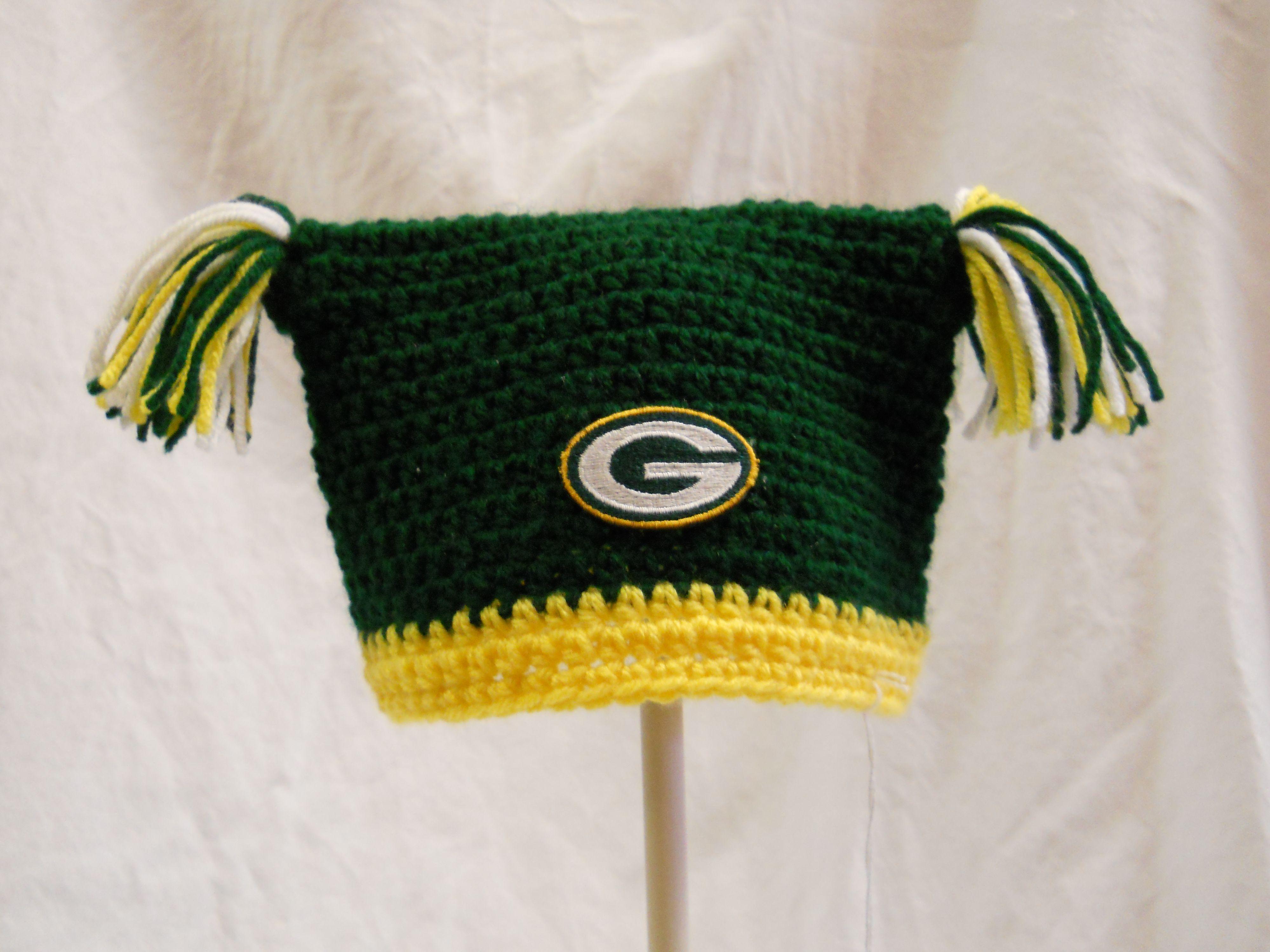 Green Bay Packers Crochet Baby Hat Vyazanie Shapochka Dlya Detej