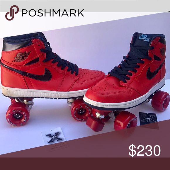 Nike Air Jordan RollerSkates men's size 11.5 Custom designed