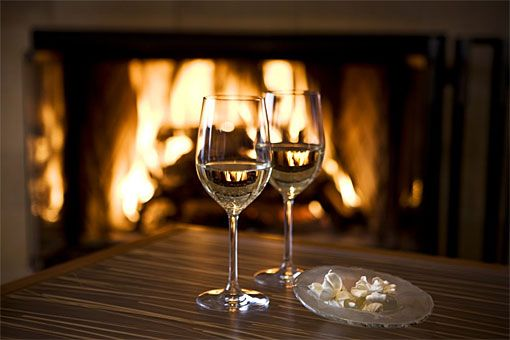 Cuddle up in front of the fireplace with a glass of wine... | Date ...