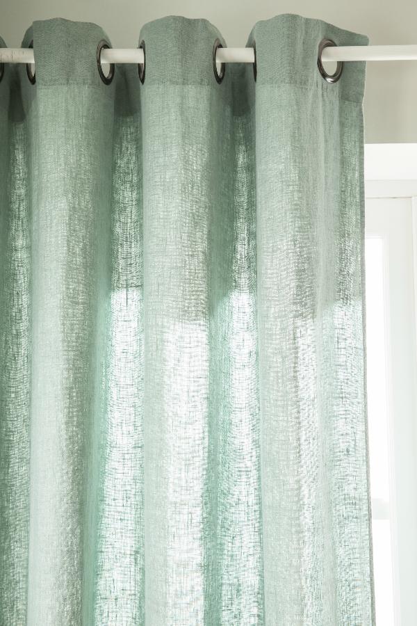 rideaux semi occultant vert