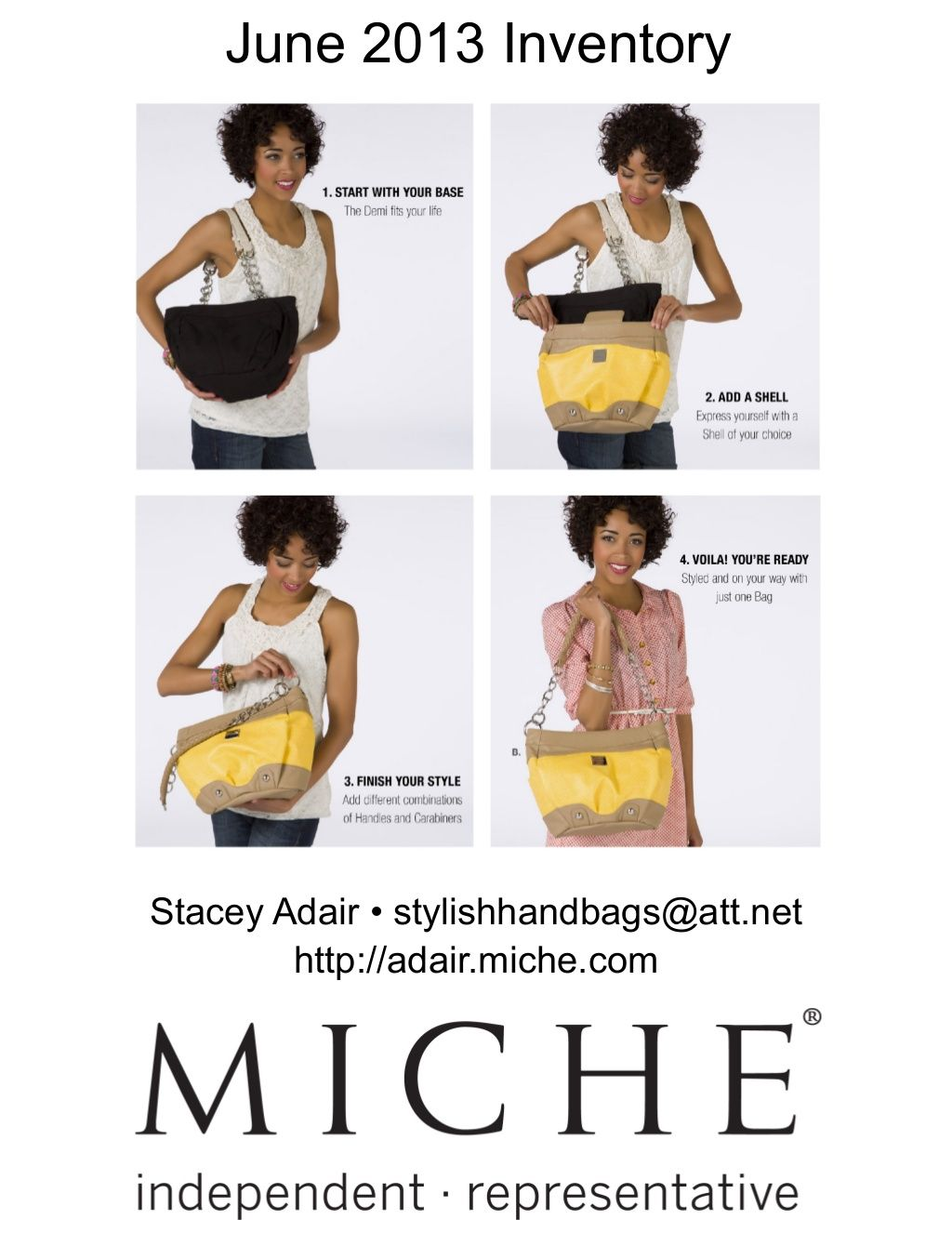 miche-june-2013-inventory-and-promotions by Stacey Adair via Slideshare  Independent Miche Representative http://adair.miche.com