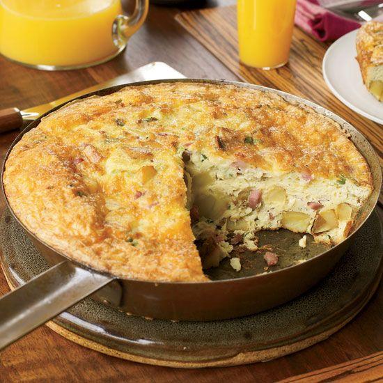 Potato Frittata with Prosciutto and Gruyère // More Breakfast Recipes: http://www.foodandwine.com/slideshows/breakfast #foodandwine