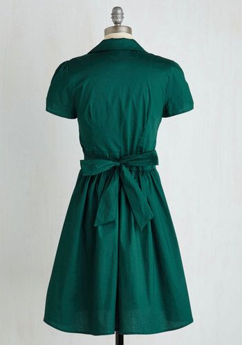 Summer School Cool Dress in Forest Green | Mod Retro Vintage Dresses | ModCloth.com