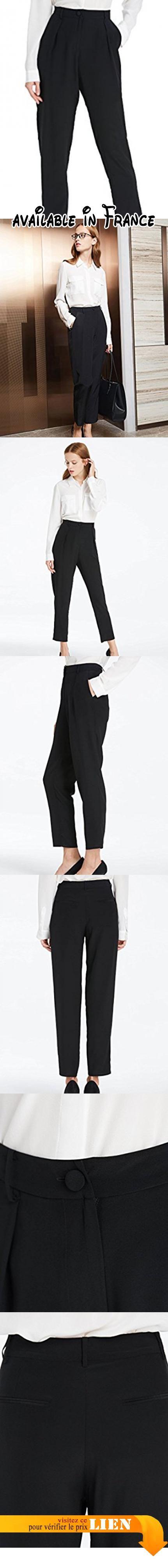 09db01e9d92 B0774SNRT3   LILYSILK Pantalon Femme Soie de Mûrier Ultra-confort Pantalon  Basique Slim Cigarette Uni