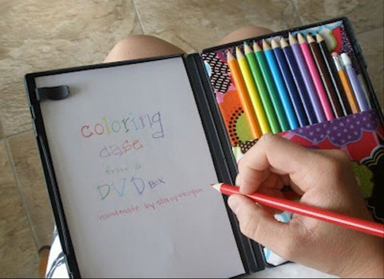 The DIY DVD Coloring Box - Repurpose a DVD box to accommodate some ...