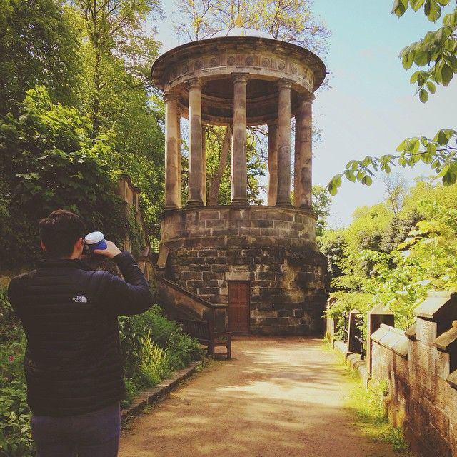 Always taking photos #boyfriend #waterofleith #statue #hygieia #greek #doric #frankenstein #scotland #vscocam #explorer #edinburgh #stockbridge #deanvilliage #photography