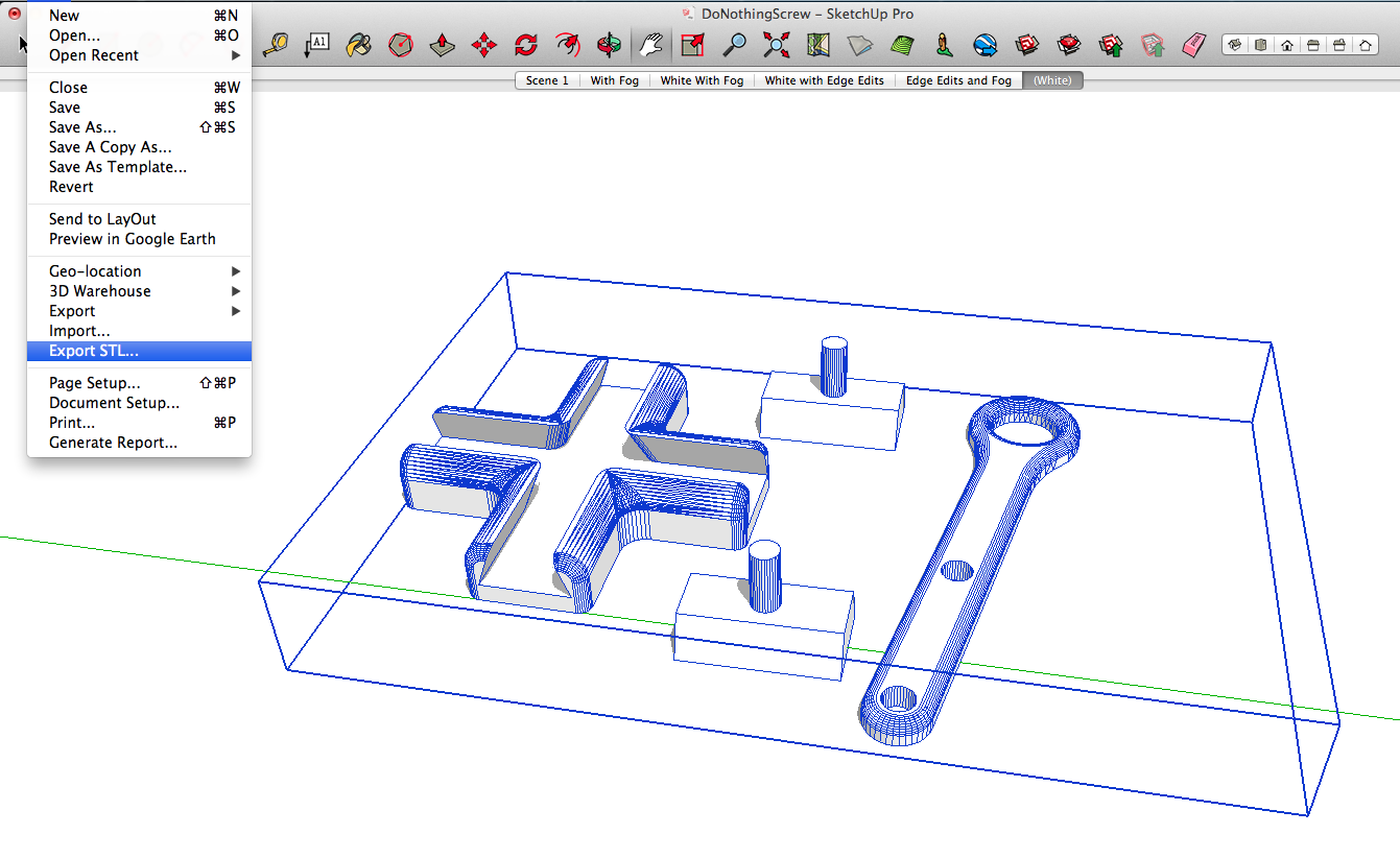 Sketchup Stl Sketchup Extension Warehouse Prints 3d Printing