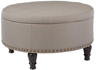Tremendous Inspired By Bassett Augusta Round Storage Ottoman In Klein Creativecarmelina Interior Chair Design Creativecarmelinacom