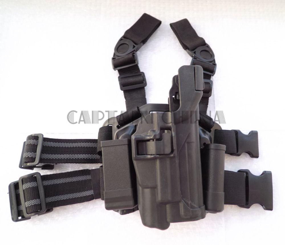 CQC Serpa Left Hand Drop Leg Thigh Pistol Holster for Sig Sauer P226 P229