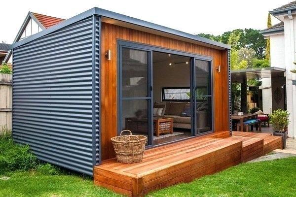 Garden Shed Ideas Backyard Retreat Modern Shed Interior Small Deck