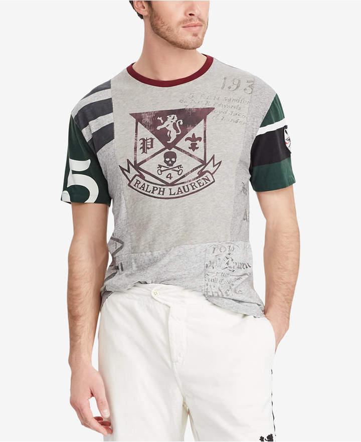 Polo Ralph Lauren Men's Classic Fit Patchwork Cotton T-Shirt ...
