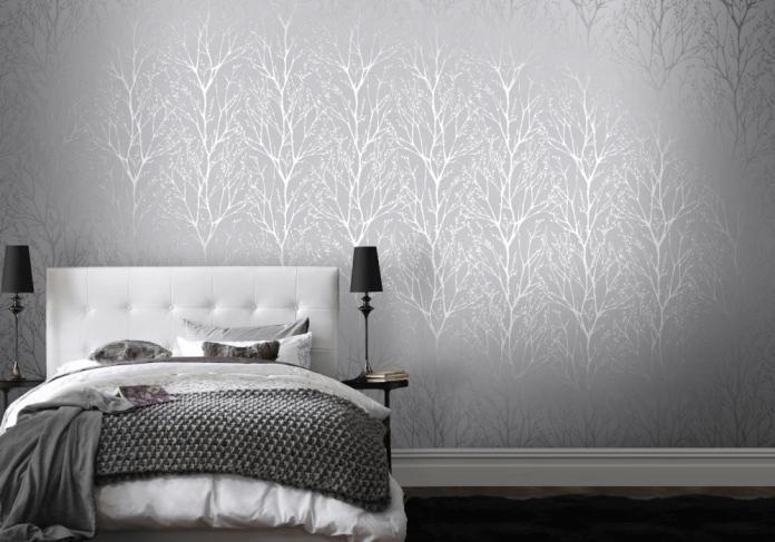 Trends Behangpapier Slaapkamer : Wallpaper trends 2016: 19 stunning examples of metallic wallpaper