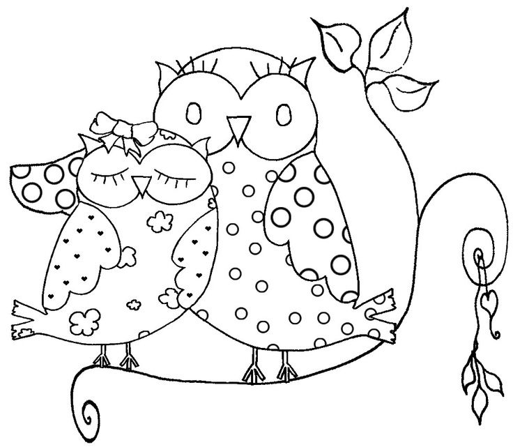 Printable Owl Coloring Page