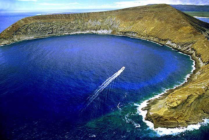 Lehua Crater Off The North Coast Of Ni Ihau Hawaii Is A