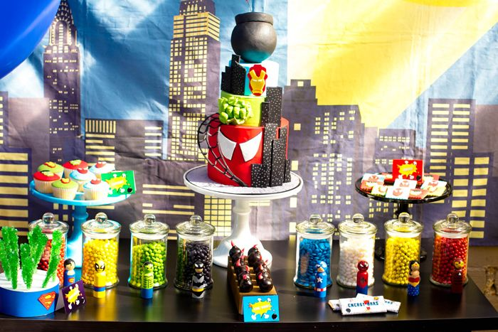 Superhero Inspired Dessert Table