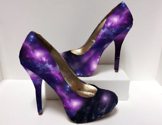 fabb236c34e Galaxy Outer Space Nebula NASA Decoupage High Heels - Made to Order ...